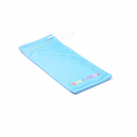 wholesale printed Custom Microfiber Sunglasses Pouch bag string pouch